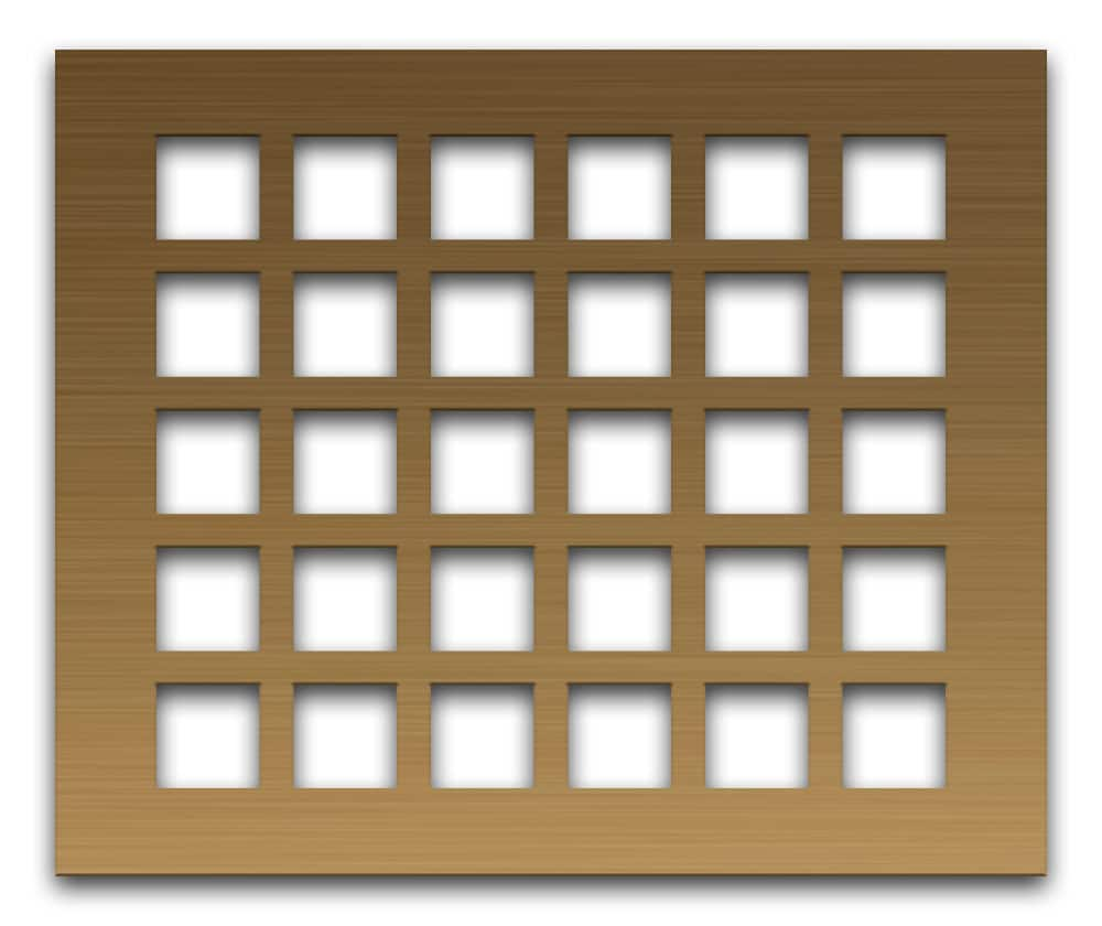AAG700 Lattice Bronze & Brass perforated metal grille