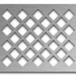 AAG701 Perforated Metal Grilles in Stainless Steel & Steel