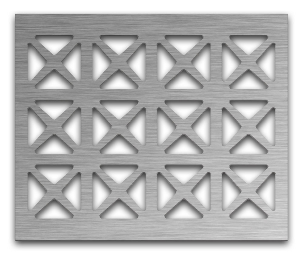AAG703 Perforated Metal Grilles in Stainless Steel & Steel