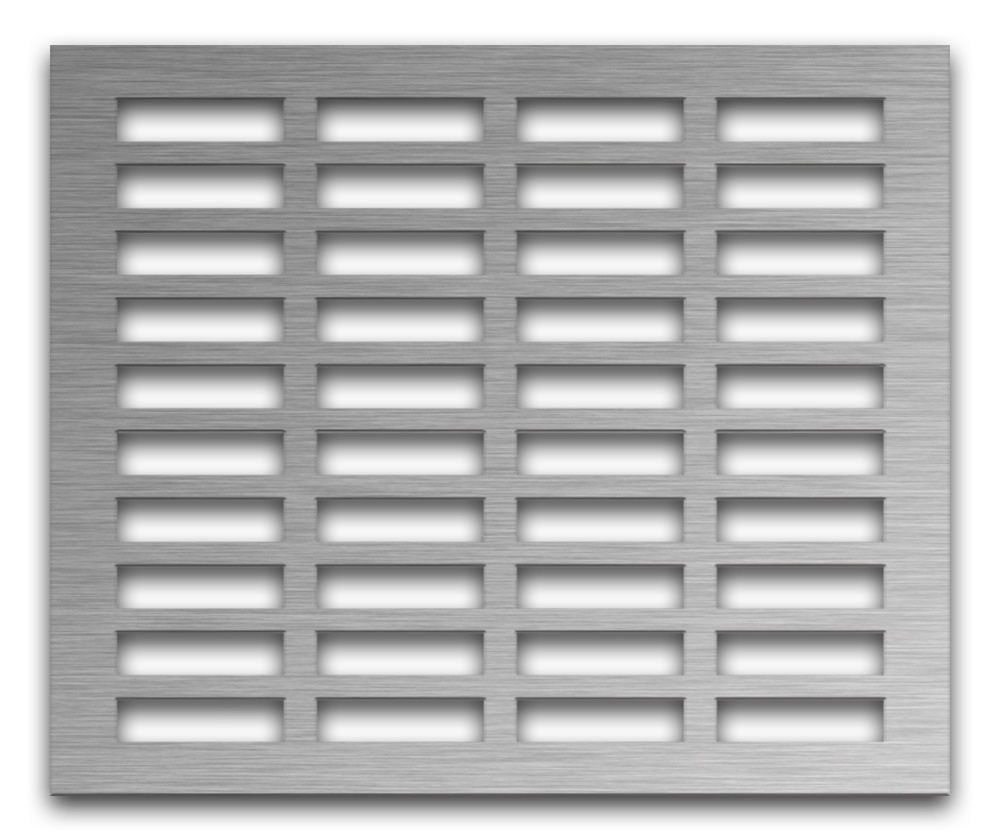 AAG704 Perforated Metal Grilles in Stainless Steel & Steel