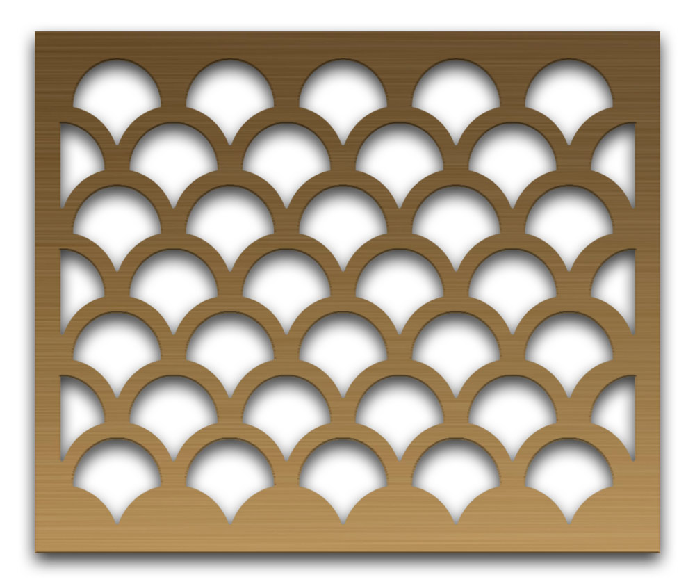 AAG706 Perforated Metal Grilles in Bronze & Brass