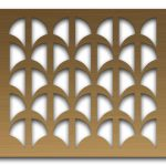 AAG707 Perforated Metal Grilles in Bronze & Brass