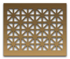 AAG709 Perforated Metal Grilles in Bronze & Brass
