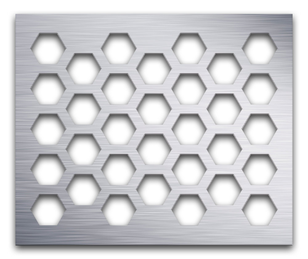 AAG711 Perforated Metal Grilles in Aluminum
