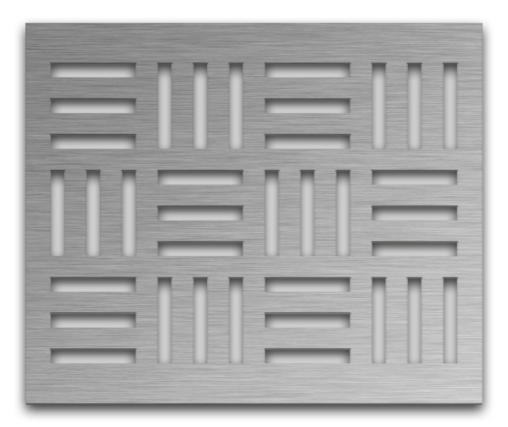 AAG715 Perforated Metal Grilles in Stainless Steel & Steel