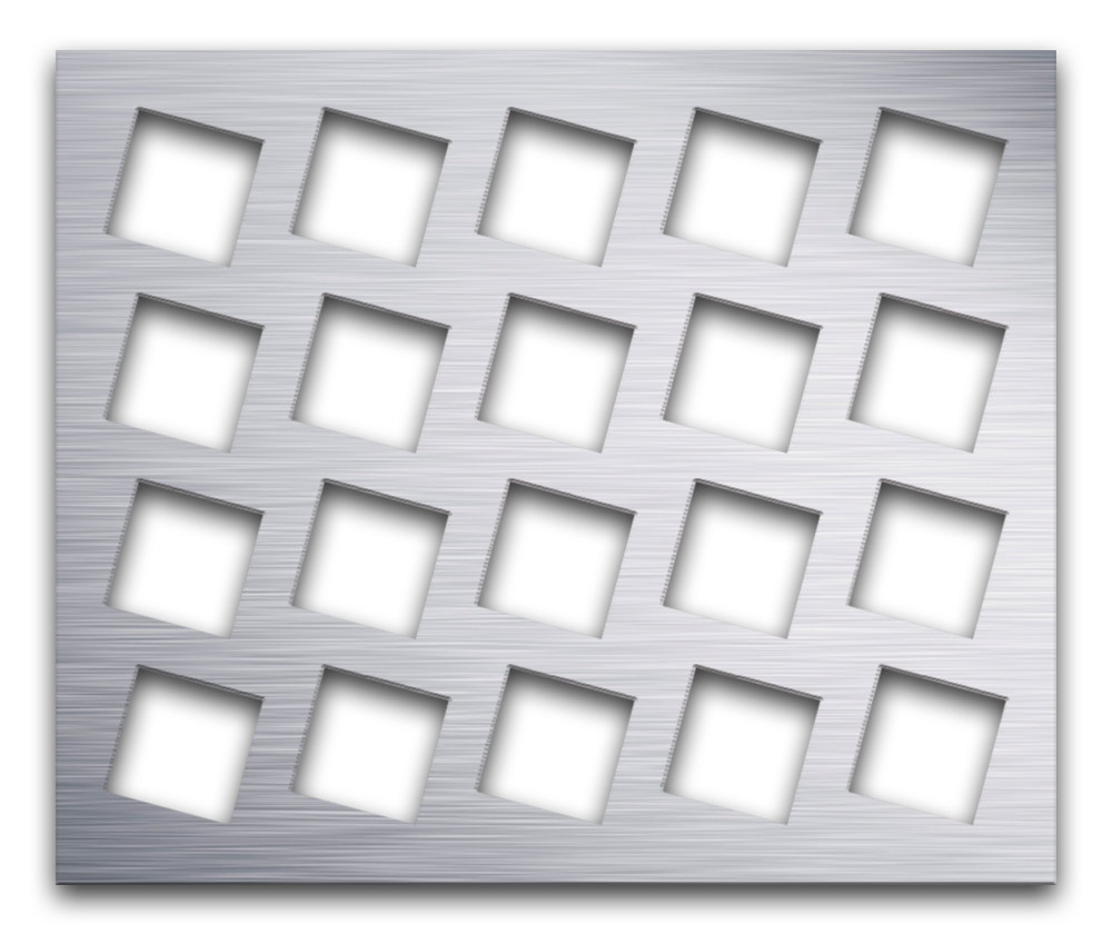 AAG716 Perforated Metal Grilles in Aluminum