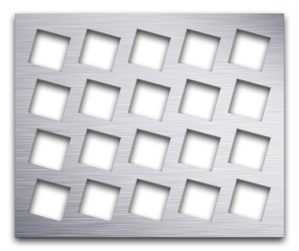 AAG716 Perforated Metal Grilles in Aluminum