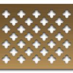 AAG717 Perforated Metal Grilles in Bronze & Brass
