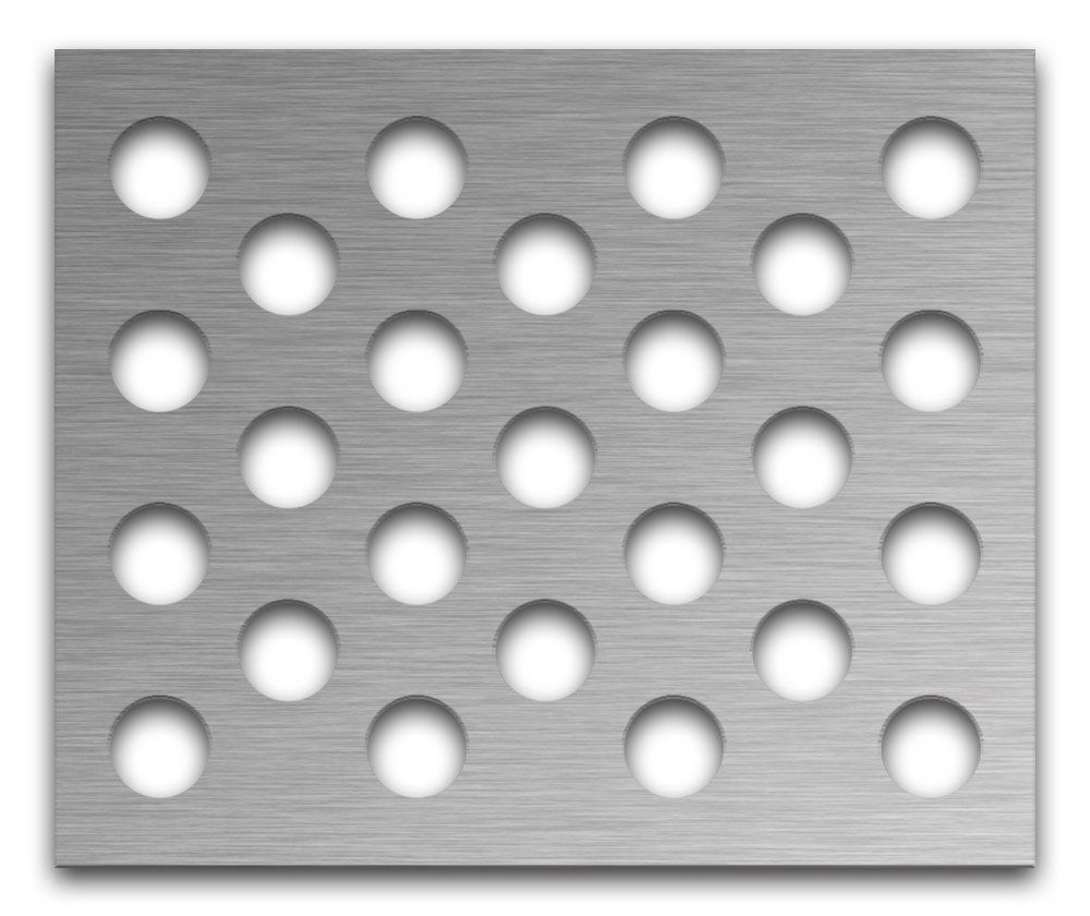 AAG721 Perforated Metal Grilles in Stainless Steel & Steel