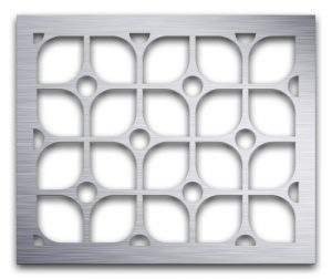 AAG722 Perforated Metal Grilles in Aluminum