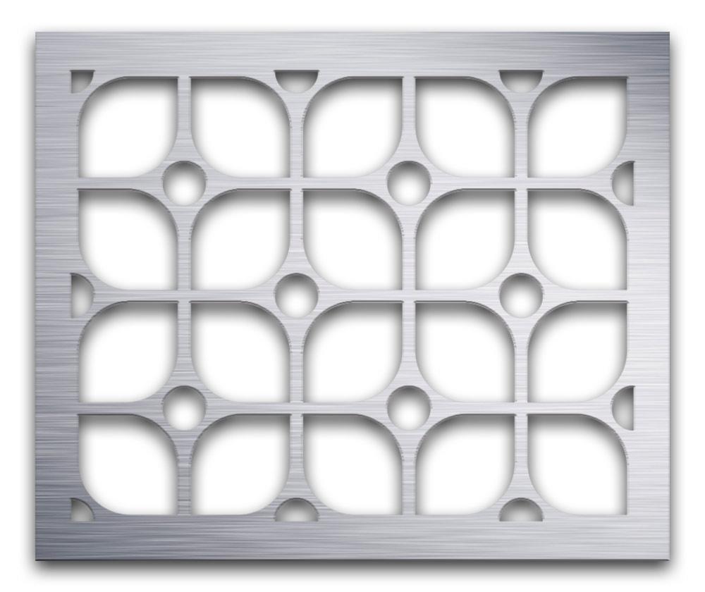 AAG722 Perforated Metal Grilles in Aluminum