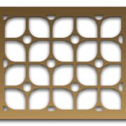 AAG722 Perforated Metal Grilles in Bronze & Brass