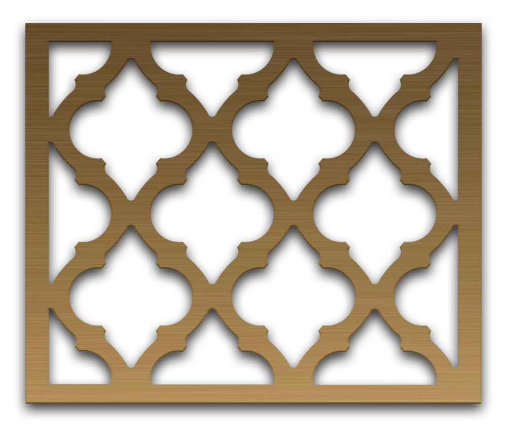 AAG723 Perforated Metal Grilles in Bronze & Brass