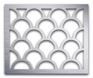 AAG725 Perforated Metal Grilles in Aluminum