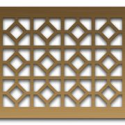 AAG726 Perforated Metal Grilles in Bronze & Brass