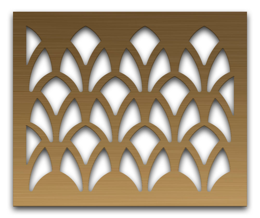 AAG727 Perforated Metal Grilles in Bronze & Brass