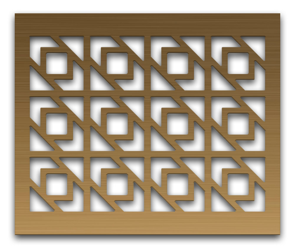 AAG729 Perforated Metal Grilles in Bronze & Brass