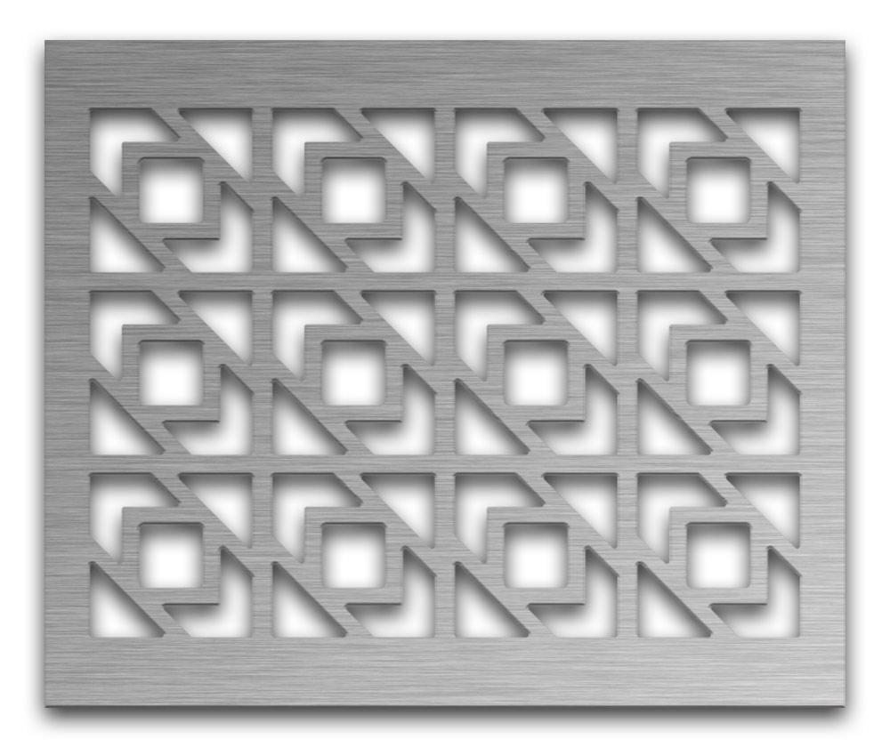 AAG729 Perforated Metal Grilles in Stainless Steel & Steel