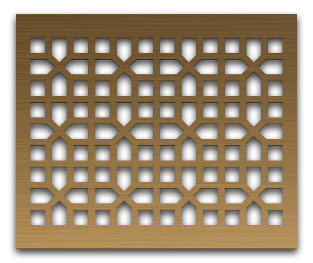 AAG731 Perforated Metal Grilles in Bronze & Brass
