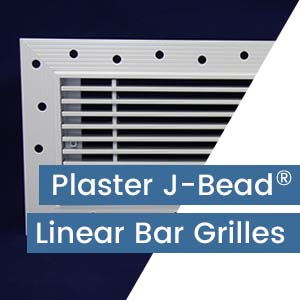 Plaster J-Bead Linear Bar Grilles