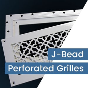 J-Bead Perforated Metal Grilles