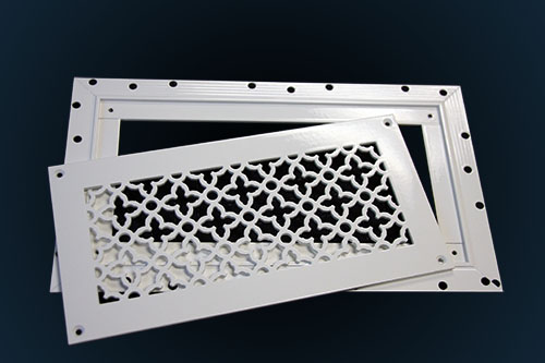 J-Bead Perforated Metal Grilles with frame and inset