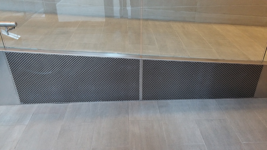 aag705 brick Custom Laser Cut perforated metal grilles