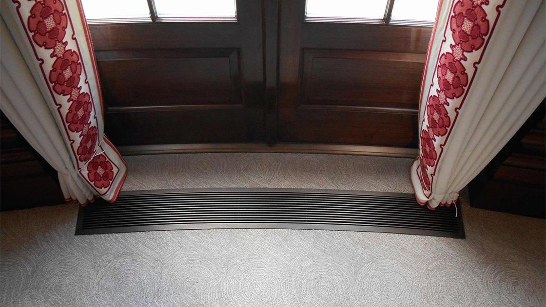 AAG100 B frame bronze Custom Radius Floor Grille