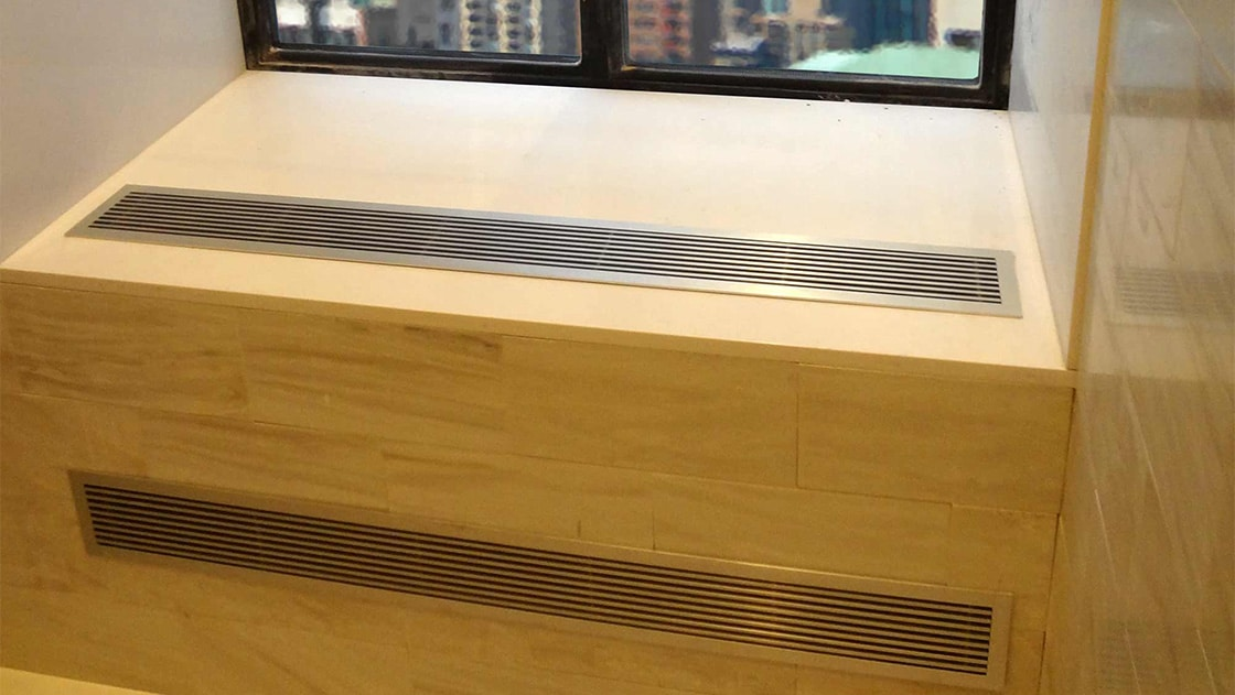 aag100 b frame linear grilles
