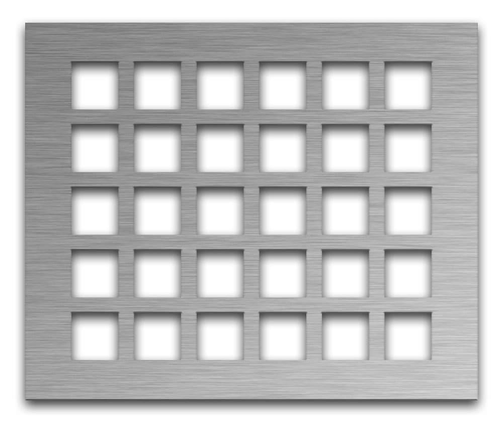 AAG700 Lattice Stainless Steel & Steel perforated metal grille