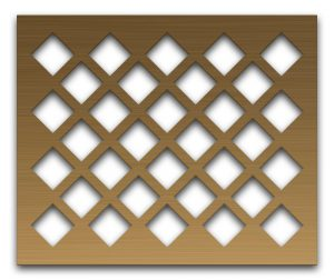 AAG701 Perforated Metal Grilles in Bronze & Brass