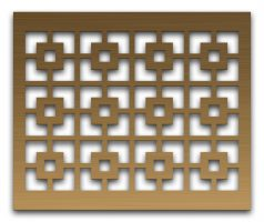 AAG702 Perforated Metal Grilles in Bronze & Brass