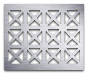 AAG703 Perforated Metal Grilles in Aluminum