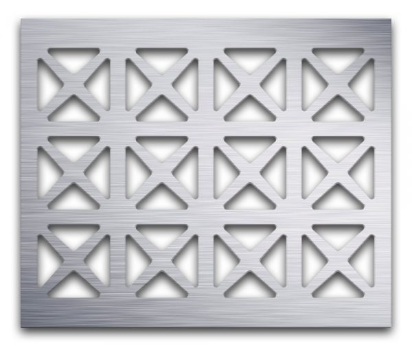 AAG703 Perforated Metal Grilles in Aluminum