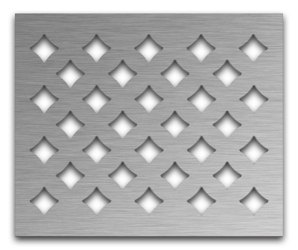 AAG710 Perforated Metal Grilles in Stainless Steel & Steel
