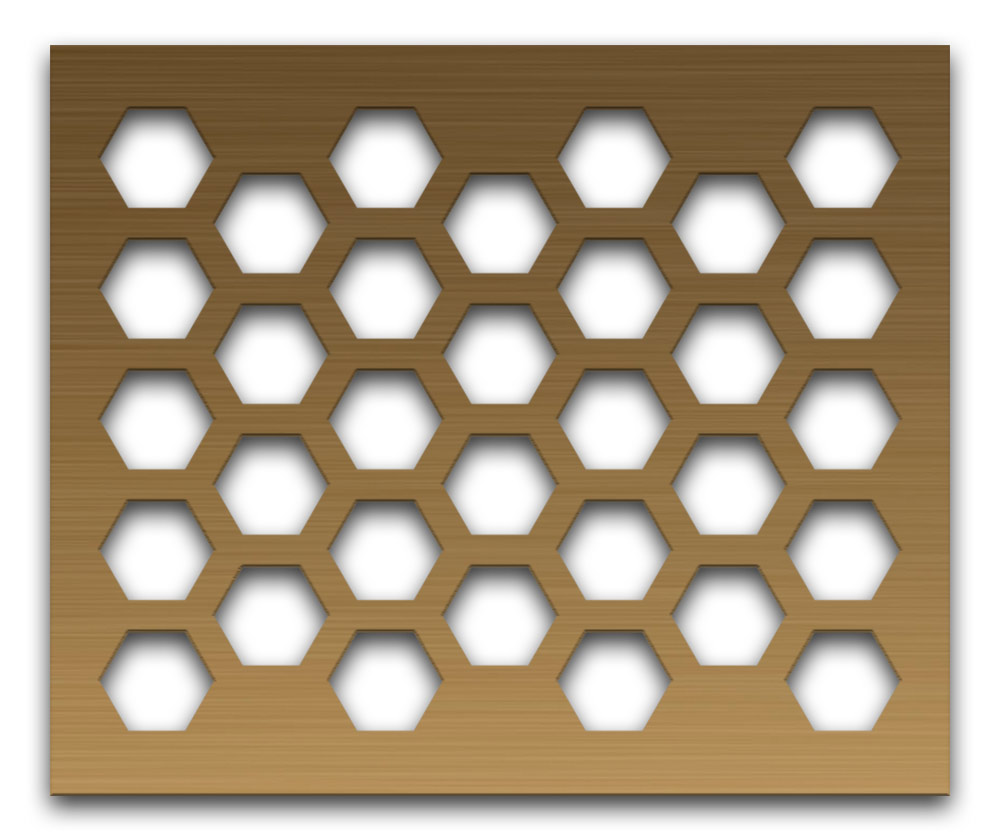 AAG711 Perforated Metal Grilles in Bronze & Brass
