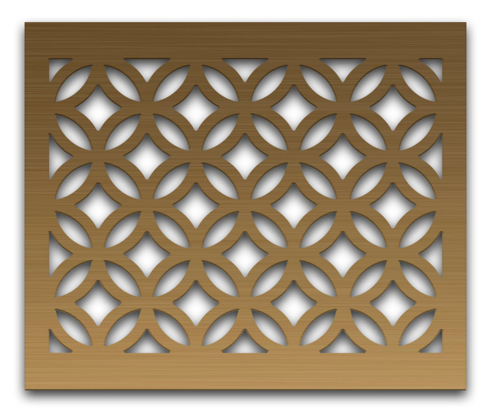 AAG712 Perforated Metal Grilles in Bronze & Brass