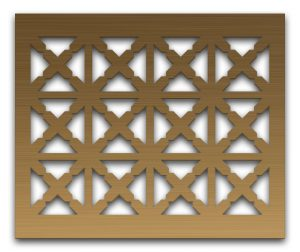 AAG713 Perforated Metal Grilles in Bronze & Brass