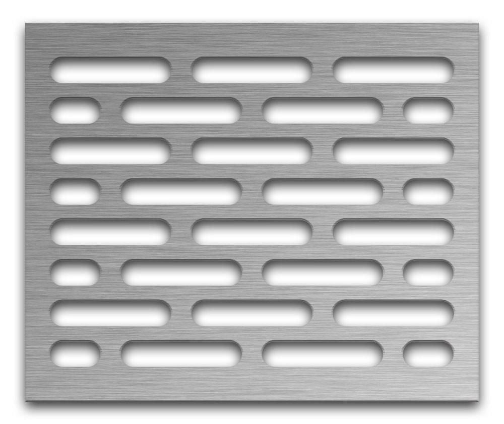 AAG714 Perforated Metal Grilles in Stainless Steel & Steel