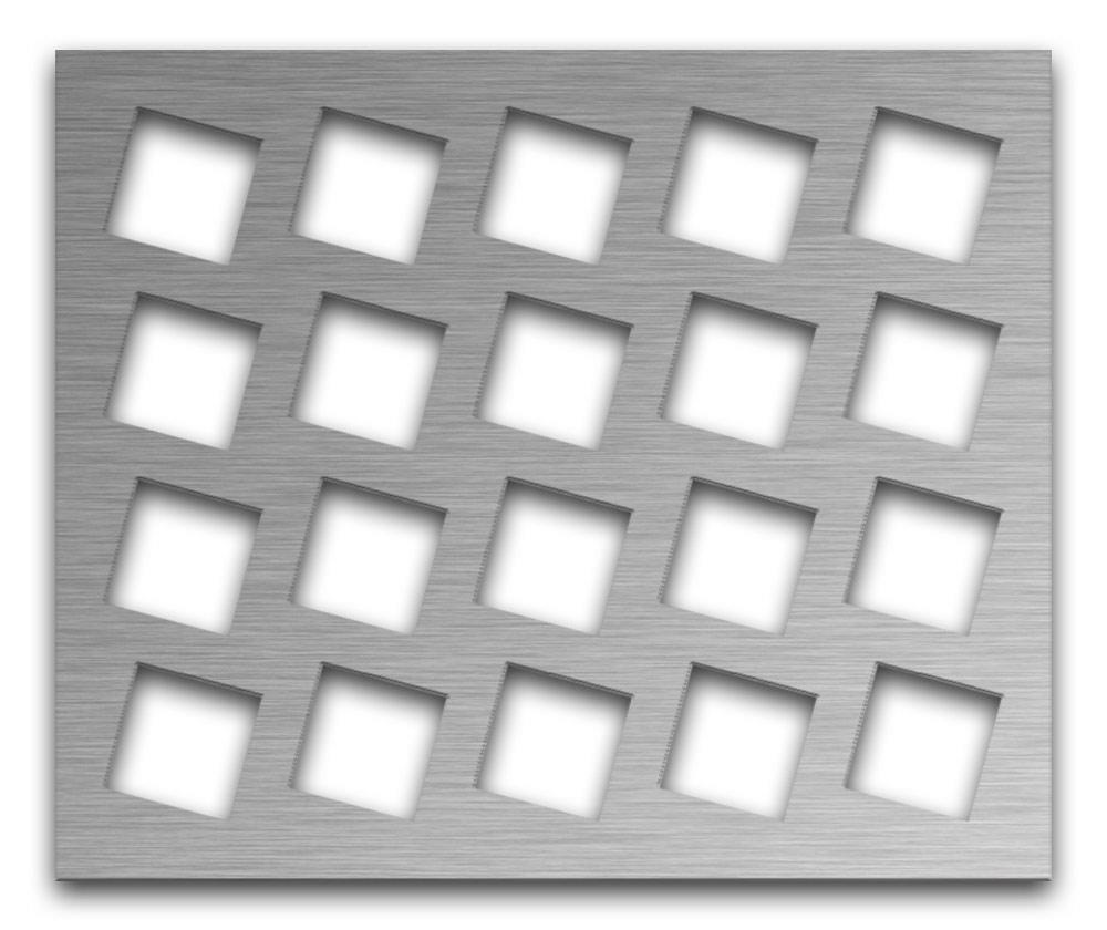 AAG716 Perforated Metal Grilles in Stainless Steel & Steel