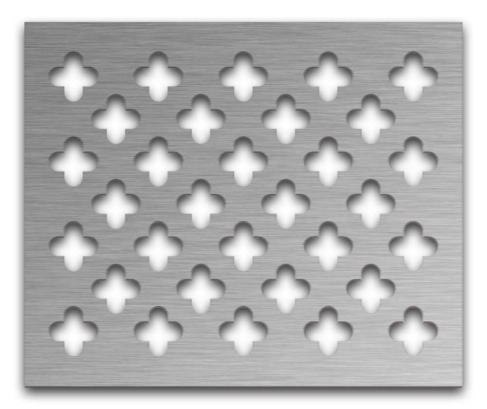 AAG717 Perforated Metal Grilles in Stainless Steel & Steel