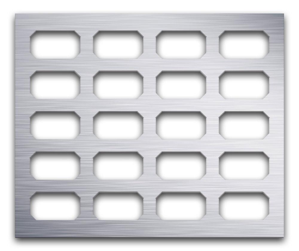 AAG718 Perforated Metal Grilles in Aluminum