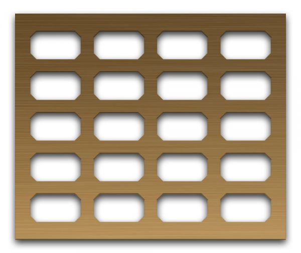 AAG718 Perforated Metal Grilles in Bronze & Brass