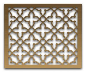 AAG719 Perforated Metal Grilles in Bronze & Brass