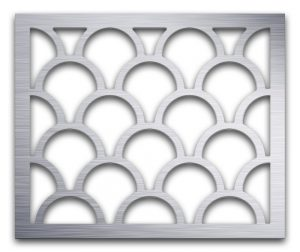 AAG725 Perforated Metal Grilles in Aluminum