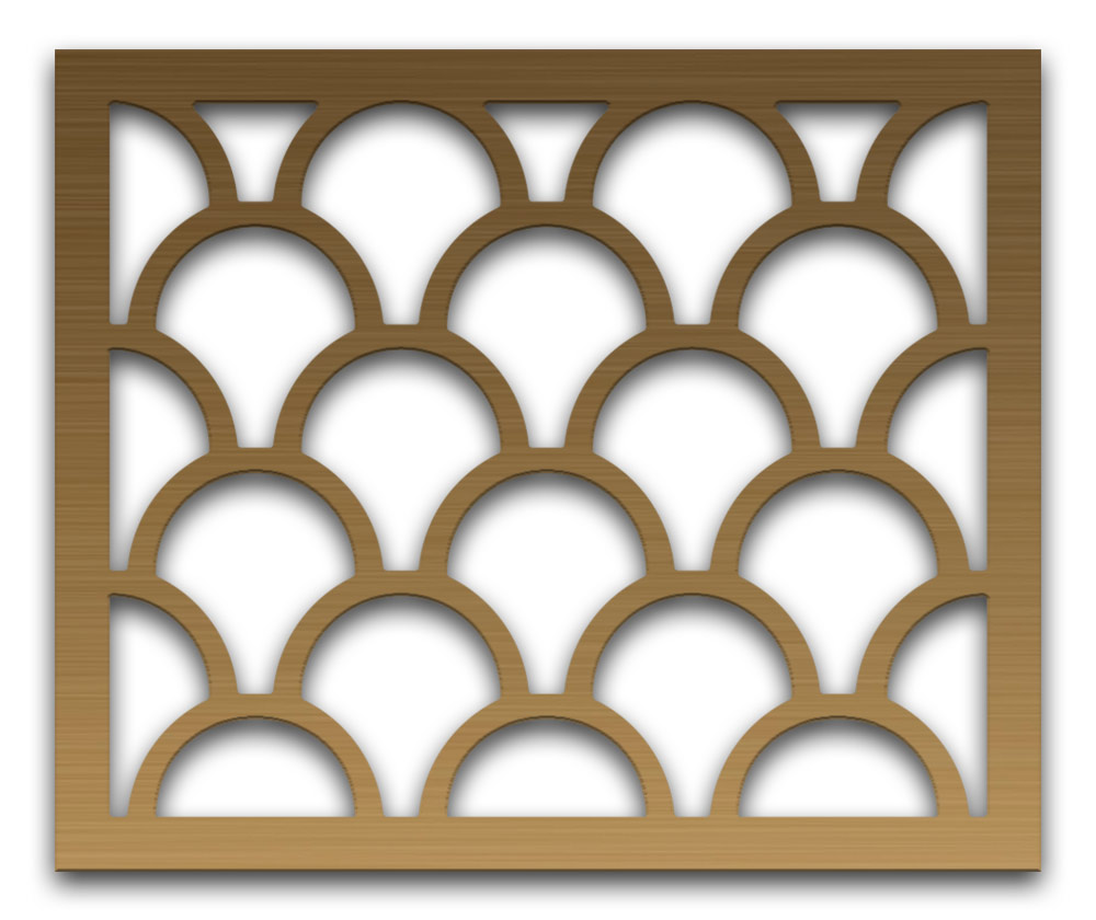 AAG725 Perforated Metal Grilles in Bronze & Brass