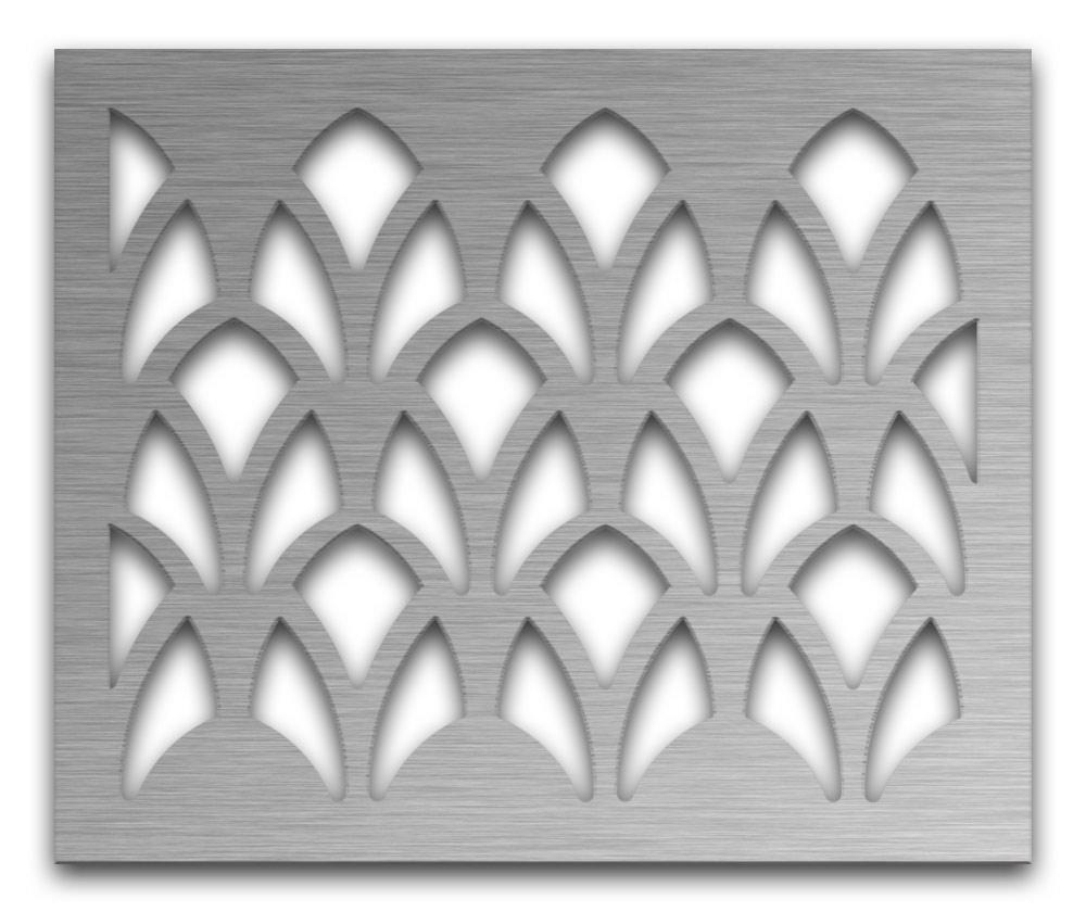 AAG727 Perforated Metal Grilles in Stainless Steel & Steel