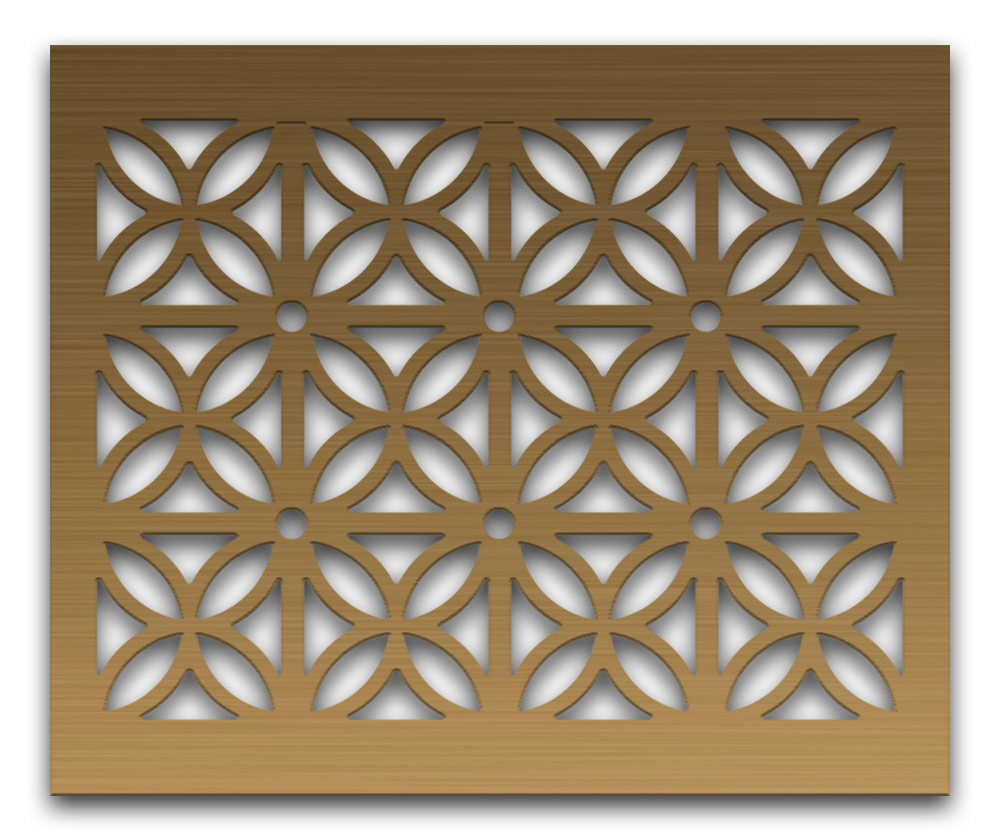 AAG728 Perforated Metal Grilles in Bronze & Brass